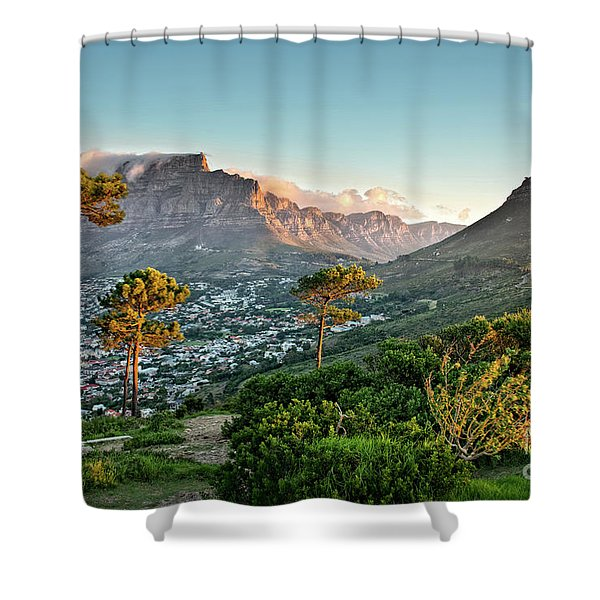 Signal Hill In Cape Town Shower Curtain