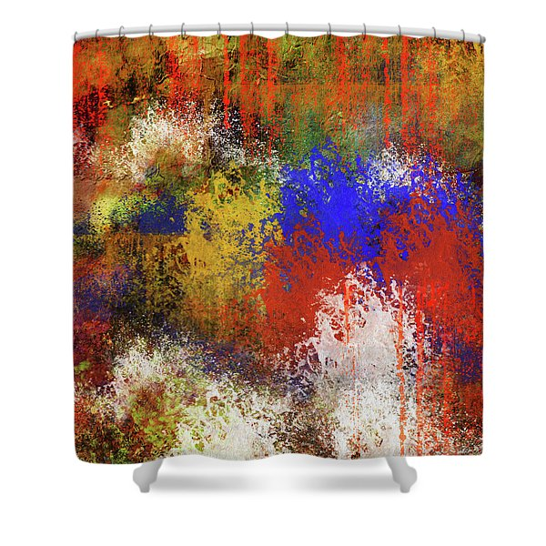 Silent Expression Abstract Shower Curtain