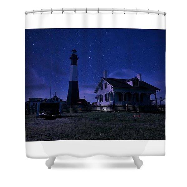 Silent Nights On Tybee Island Shower Curtain