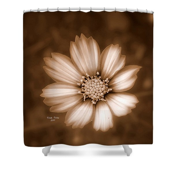 Silent Petals Shower Curtain