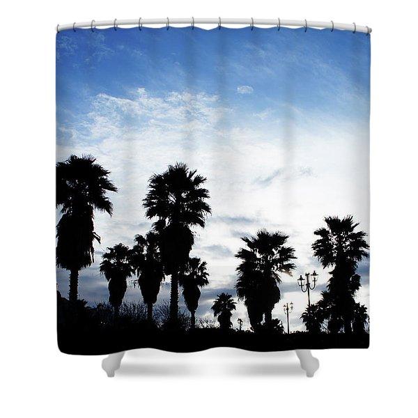 Silhouette In Tropea Shower Curtain