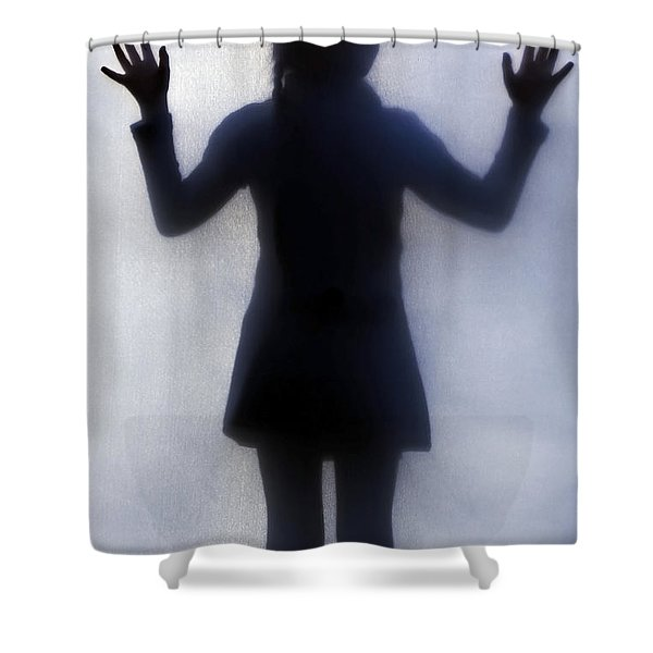 Silhouette Of A Girl Shower Curtain