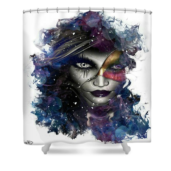 Silhouette Of Reflecting Approach Shower Curtain