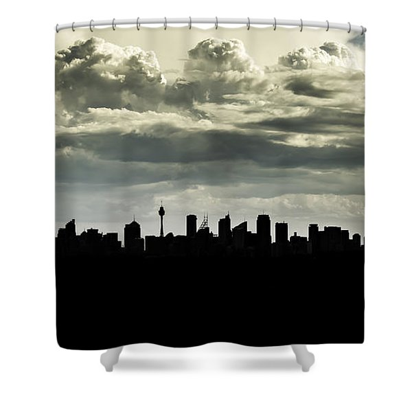 Silhouette Of Sydney Shower Curtain