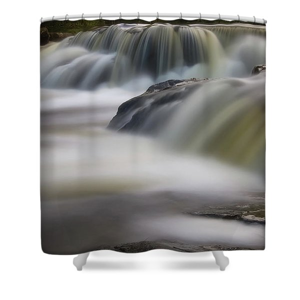 Shower Curtain featuring the photograph Silky Waters by Heather Kenward