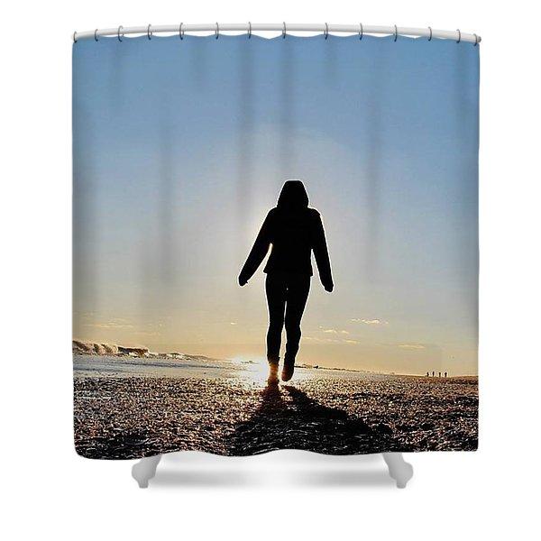 Sillhouette At Sea Shower Curtain