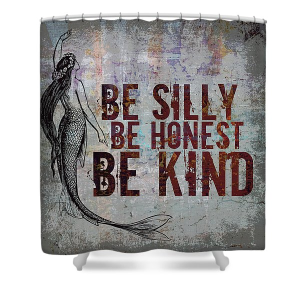 Silly Honest Kind Mermaid V2 Shower Curtain