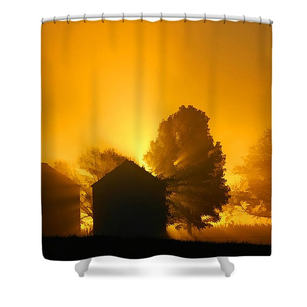 Silo Sunrise Shower Curtain