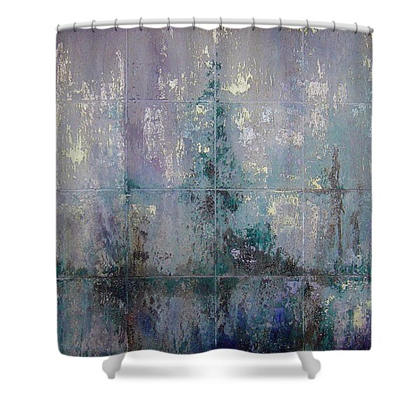 Silver And Silent Shower Curtain