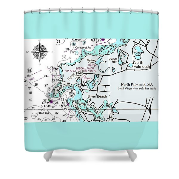 Silver Beach Shower Curtain