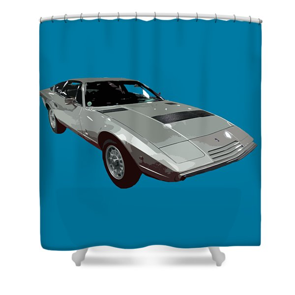 Silver Classic Sport Art Shower Curtain