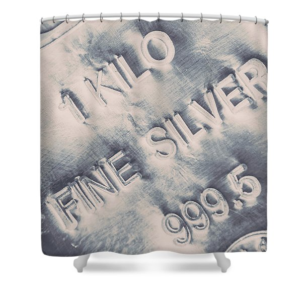 Silver Commodities Shower Curtain