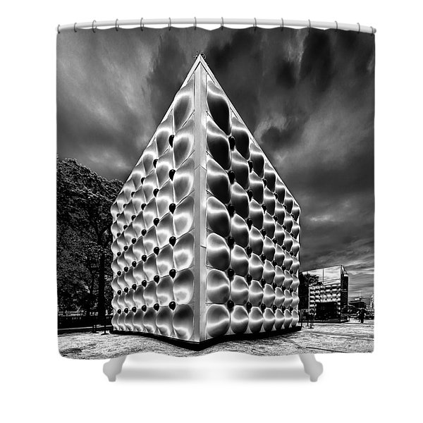Silver Dice Shower Curtain