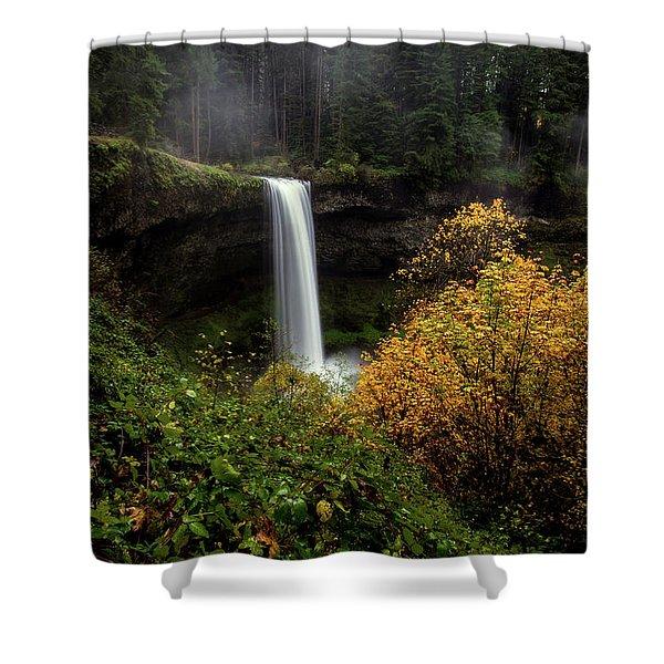 Silver Falls Shower Curtain