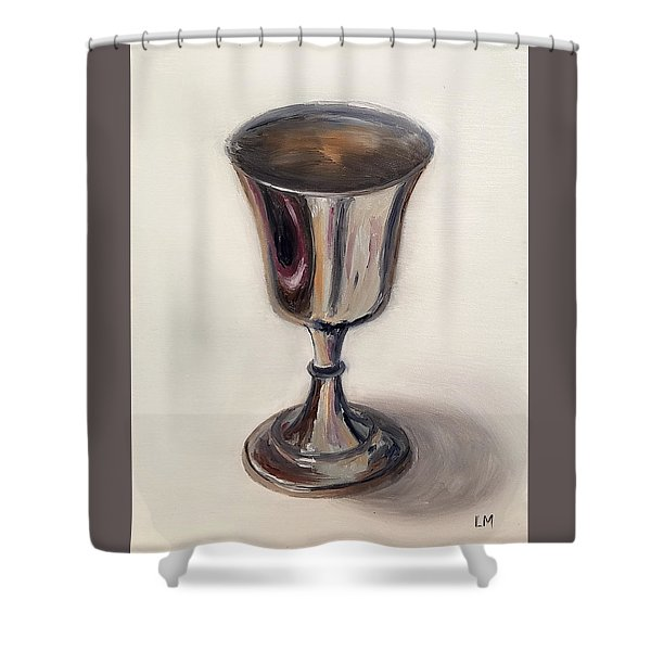 Silver Goblet Shower Curtain