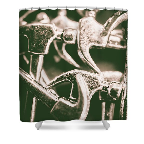 Silver Hammers Shower Curtain