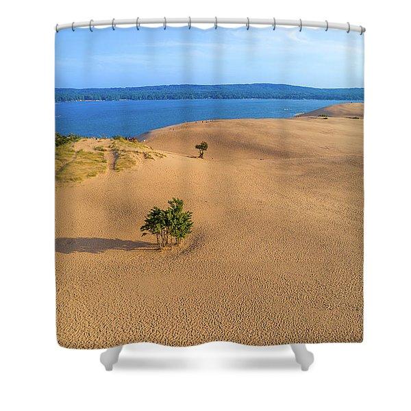 Silver Lake Dunes Shower Curtain