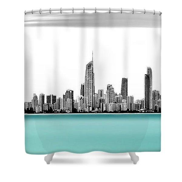 Silver Linings Panorama Shower Curtain