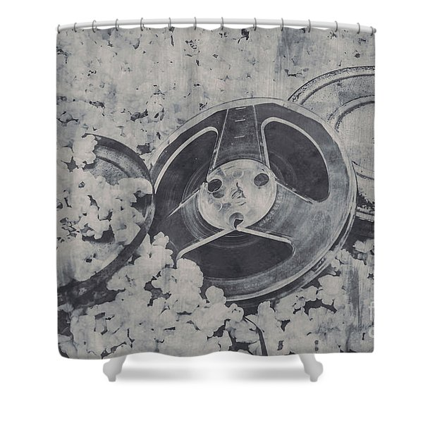 Silver Screen Film Noir Shower Curtain