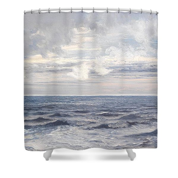 Silver Sea Shower Curtain