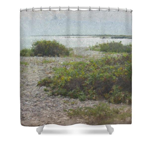Silver Shoreline Westport Ma Shower Curtain