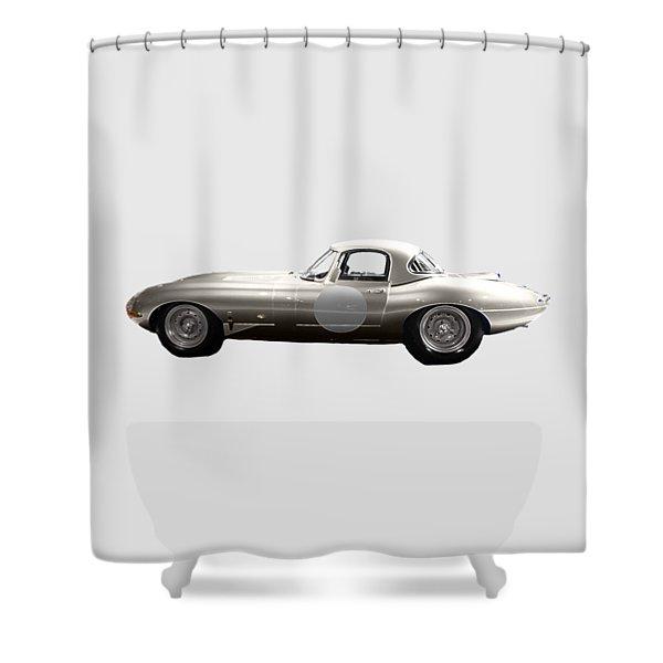 Silver Sports Car Art Shower Curtain