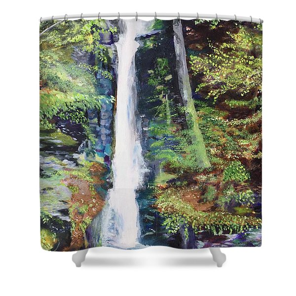 Silver Thread Falls Shower Curtain