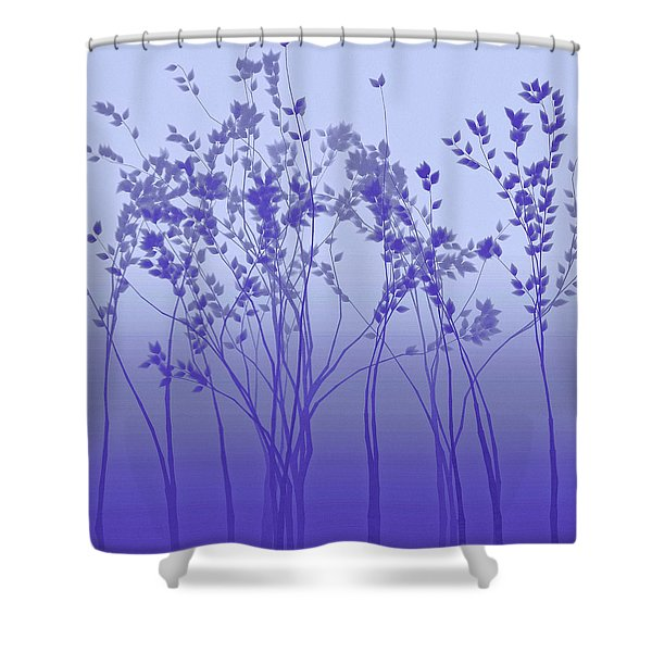 Silver Twilight Shower Curtain