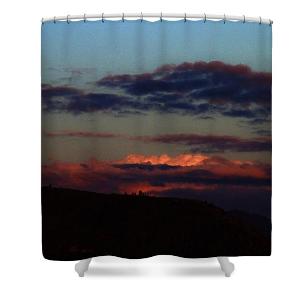 Silver Valley Moon Shower Curtain