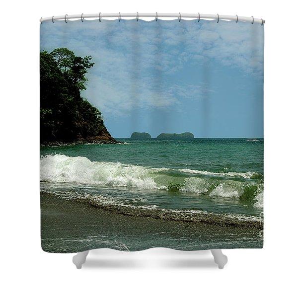 Simple Costa Rica Beach Shower Curtain