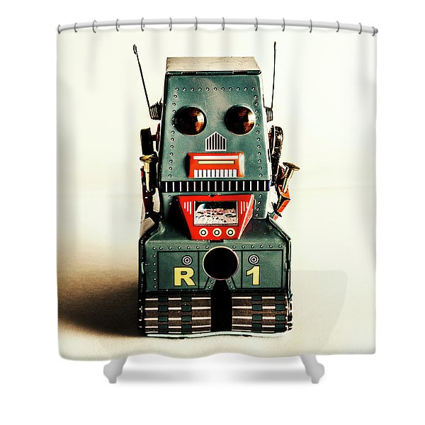 Simple Robot From 1960 Shower Curtain