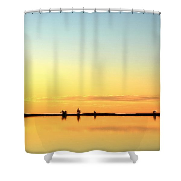 Simple Sunrise Shower Curtain