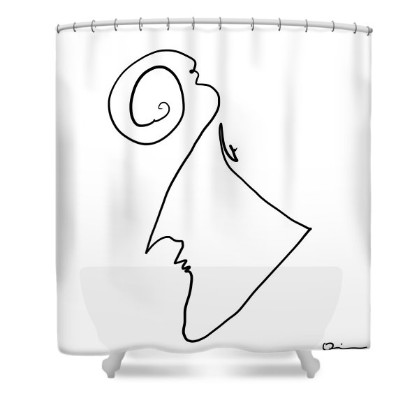 Simple Thought Shower Curtain