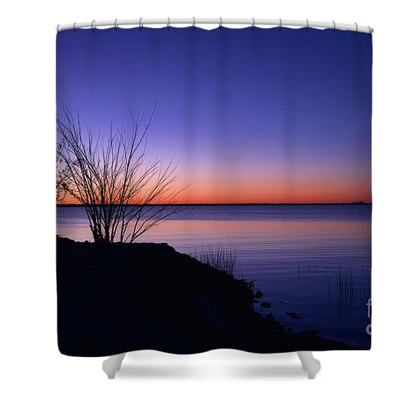 Simply Gentle Blue Shower Curtain