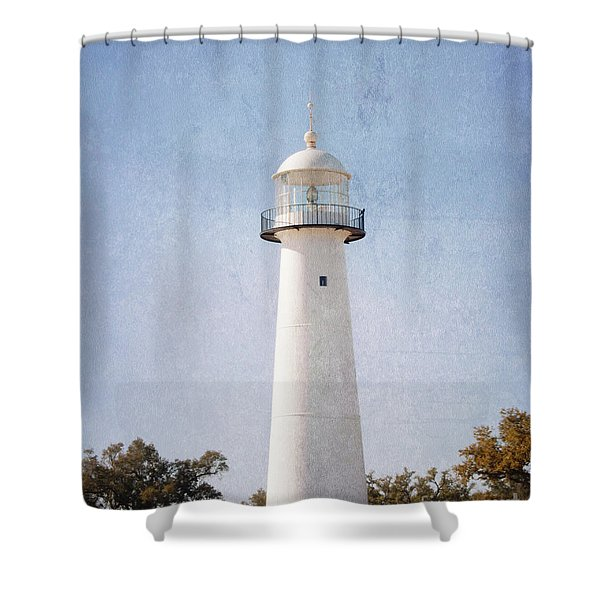 Simply Lighthouse Shower Curtain