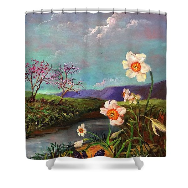 Simply Spring Shower Curtain