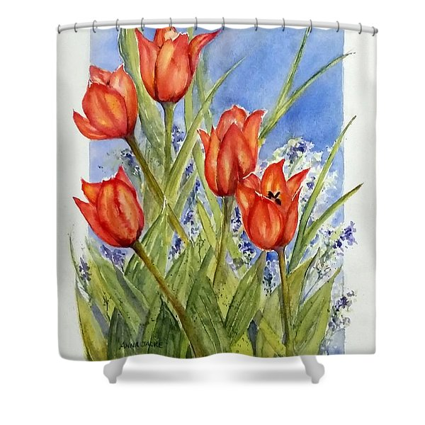 Simply Tulips Shower Curtain