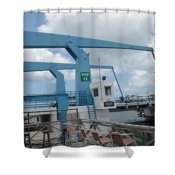 Simpson Bay Bridge St Maarten Shower Curtain