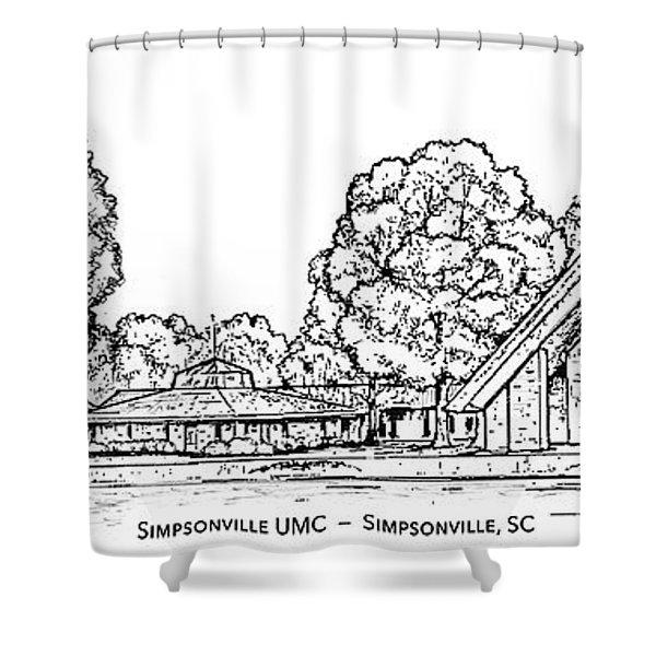 Simpsonville Umc Shower Curtain