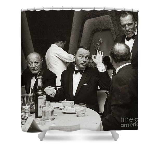 Sinatra And Ed Sullivan At The Eden Roc - Miami - 1964 Shower Curtain