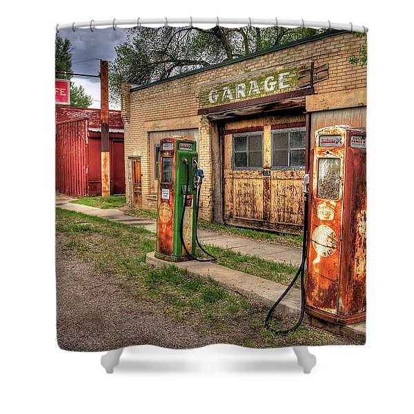Sinclair Garage Shower Curtain