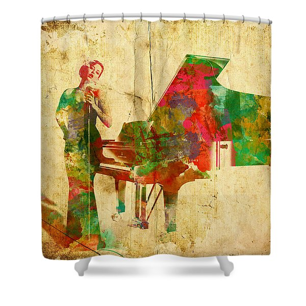 Sing It Baby One More Time Shower Curtain