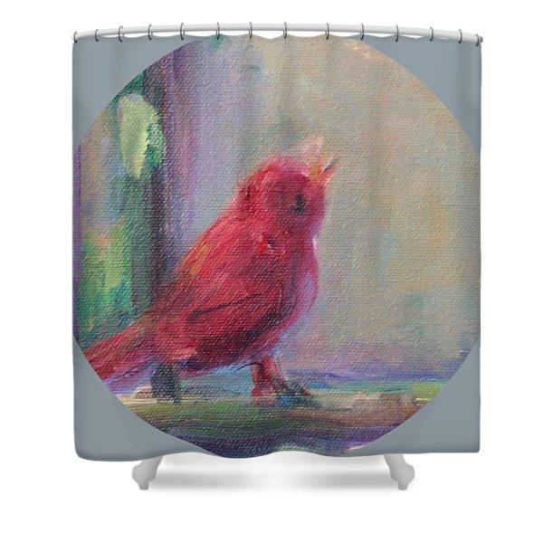 Sing Little Bird Shower Curtain