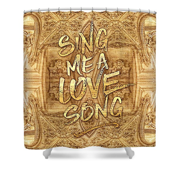 Sing Me A Love Song Opera Garnier Antique Sheet Music Shower Curtain