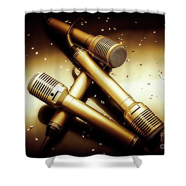 Sing Star Concert Shower Curtain