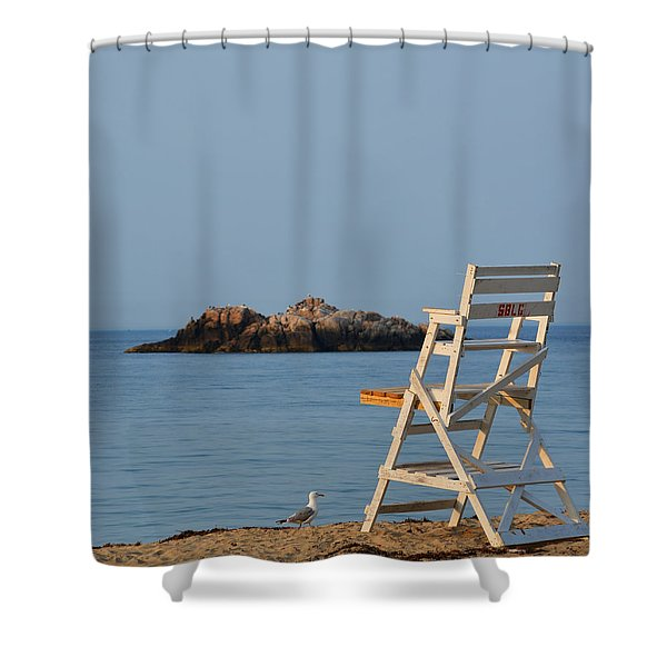 Singing Beach Lifeguard Chair Manchester By The Sea Ma Shower Curtain