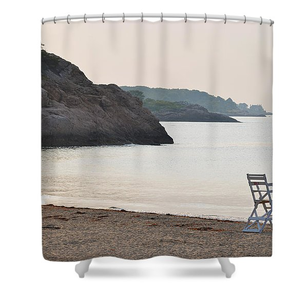Singing Beach Lifeguard Chair Rocky Manchester By The Sea Ma Shower Curtain