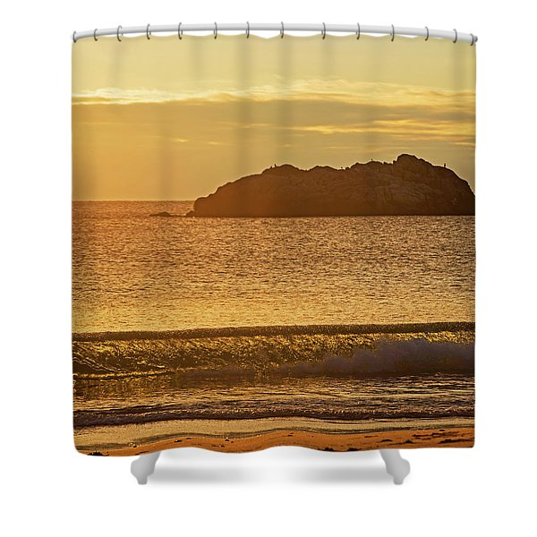 Singing Beach Manchest By The Sea Warm Morning Glow Shower Curtain