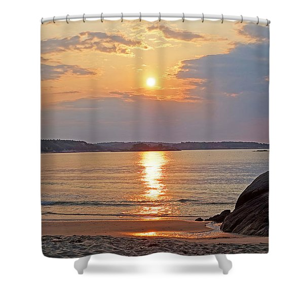Singing Beach Rocky Sunrise Manchester By The Sea Ma Sand Shower Curtain