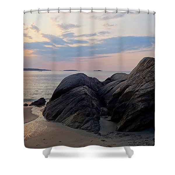 Singing Beach Rocky Sunrise Manchester By The Sea Ma Shower Curtain